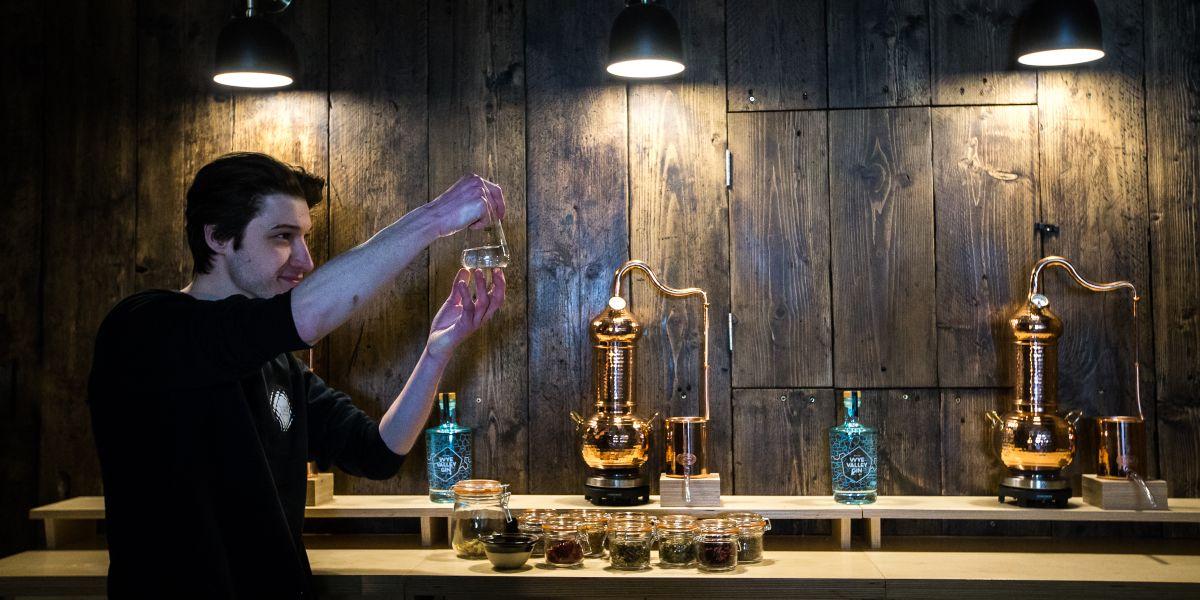 Gin Tasting Experiences at Wye Valley Gin near Tintern Wye Valley
