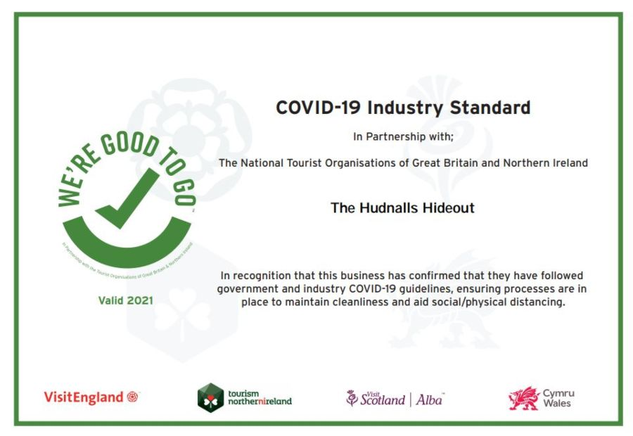 Good to Go Accreditation | The Hudnalls Hideout 2021